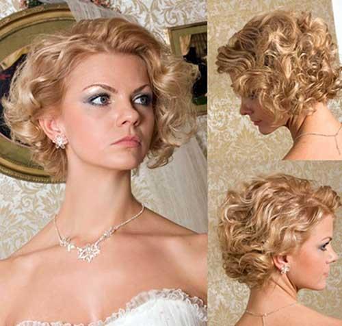 Peinados cortos rizados gruesos para la boda