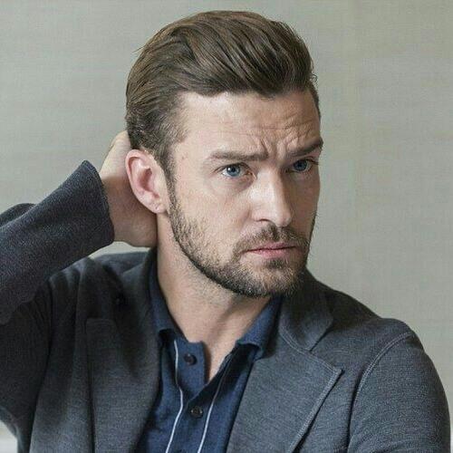 Barrido hacia atrás Justin Timberlake peinados