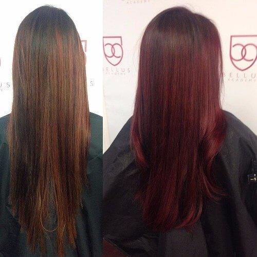color de pelo rojo burdeos