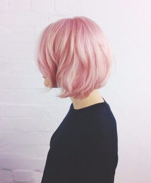 peinados de algodón rosa longitud media