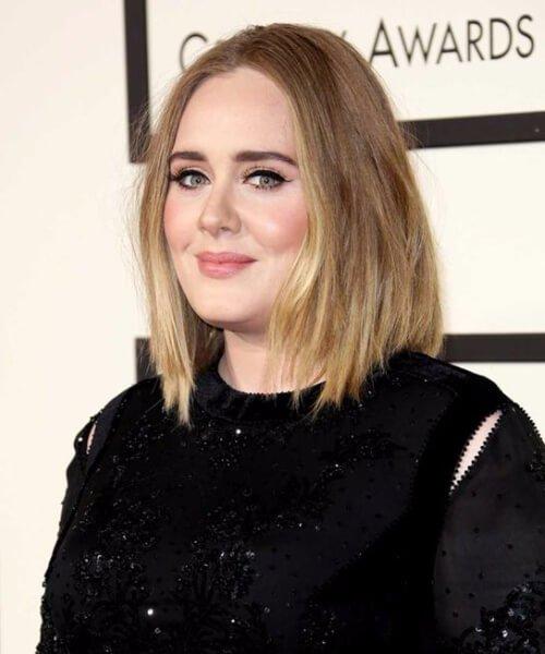 Corte de pelo que alarga ópticamente una cara redonda adele cortes de pelo para caras redondas