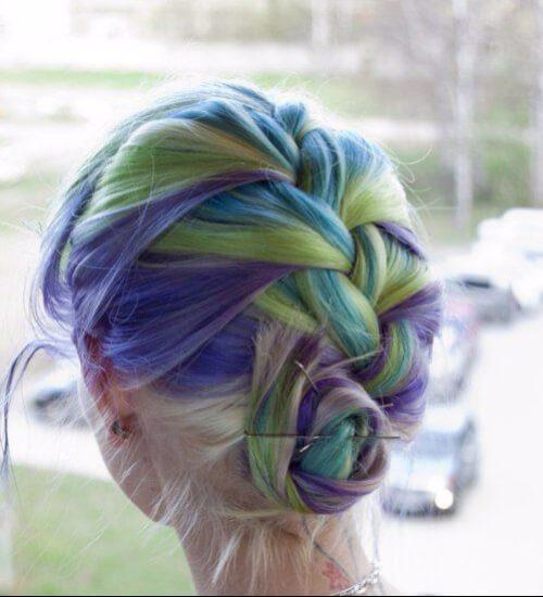 slurpee azul ombre pelo