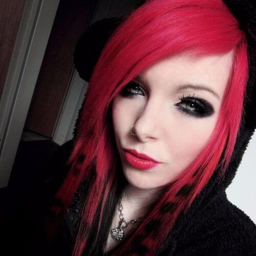 peinados coontail pelo emo para niñas