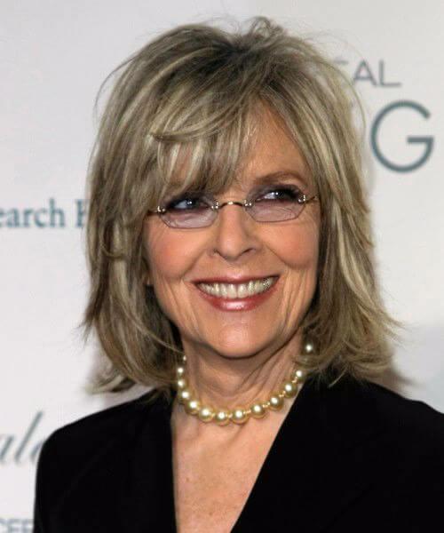 Peinados Diane Keaton para mujeres mayores de 60 años