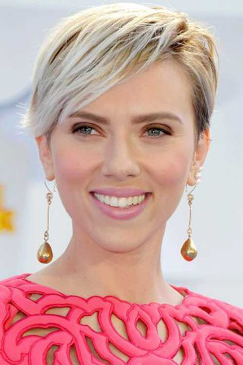 Scarlett Johansson Short Haircuts 2018