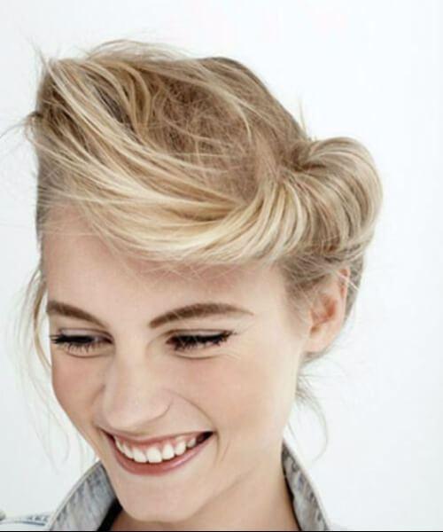 desordenado moderno pin up peinados