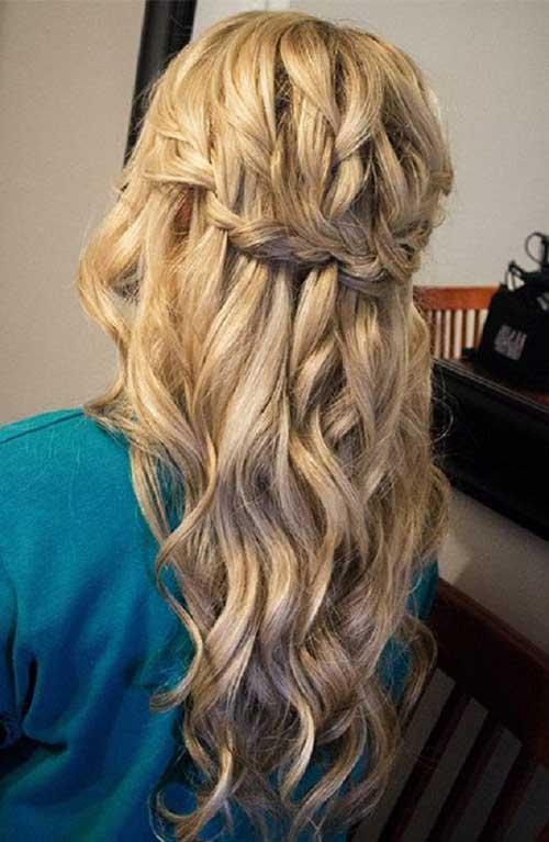 Lindos y largos peinados rizados-10