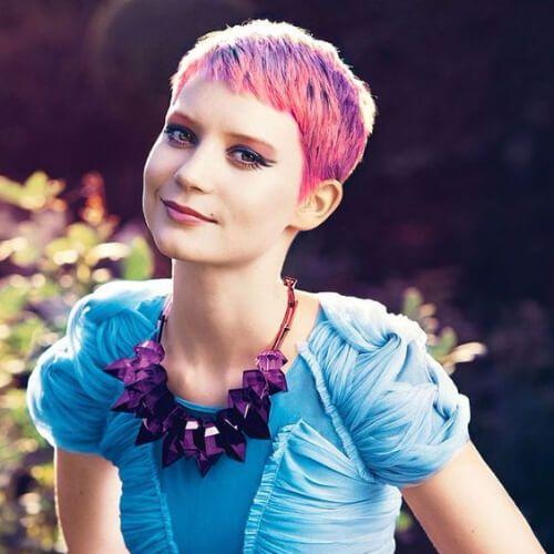 mia wasikowska peinados de graduación para el pelo corto