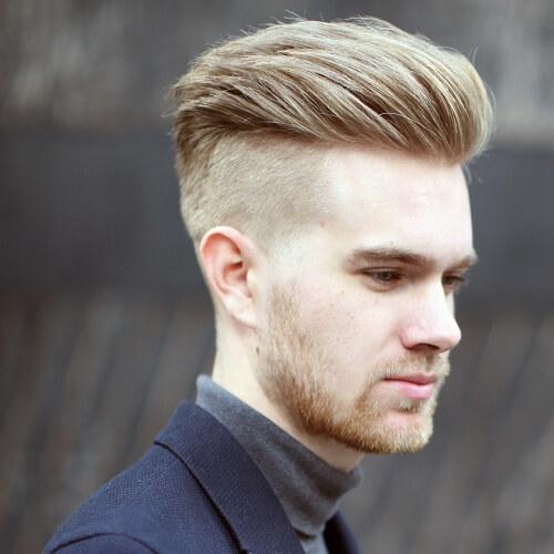 Peinados recortados para hombres rubios