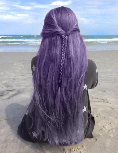 lavanda pelo largo púrpura