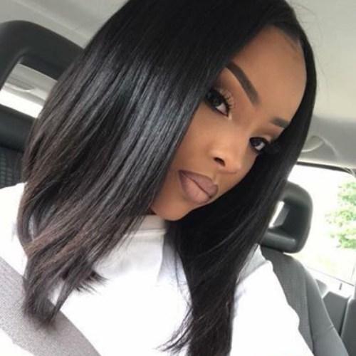 una línea de peinados bob para mujeres negras
