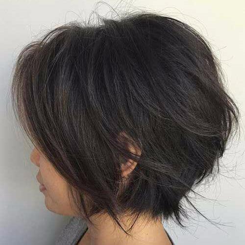 corte de pelo corto bob en capas