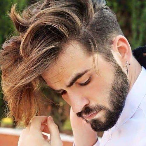 separó largos peinados largos para hombres