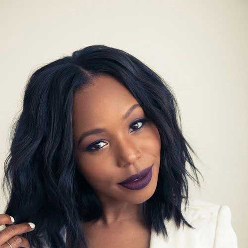 peinados ondulados bob para mujeres negras