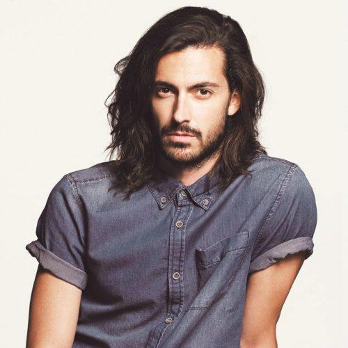 desordenado peinados largos para hombres