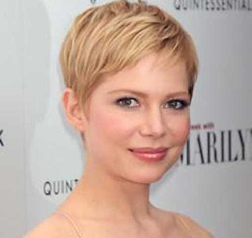 Corte de pelo corto de Michelle Williams