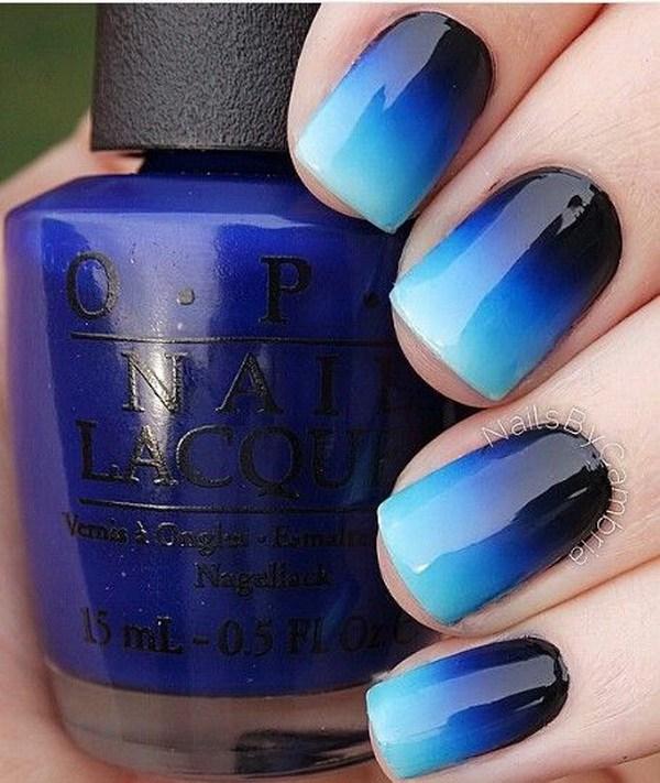 40 ideas azules del arte del clavo » Largo Peinados