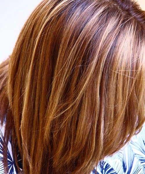 Color de cabello castaño claro con ideas destacadas