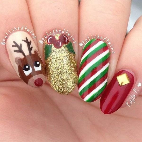 Nail Art Design Ideas de Navidad.