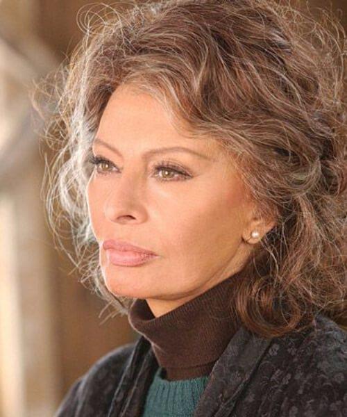 sophia loren hairstyles para mujeres mayores de 60 años
