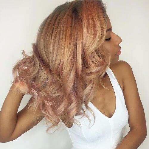 rubia rosa y fresa