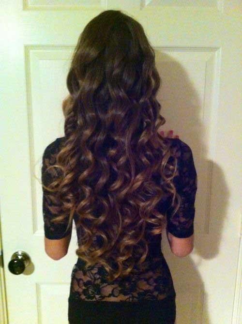 Lindos y largos peinados rizados-25