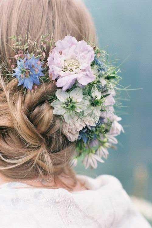 El mejor pelo de la flor de la boda