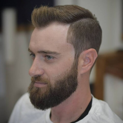 Viudas Peinados de pico con barbas