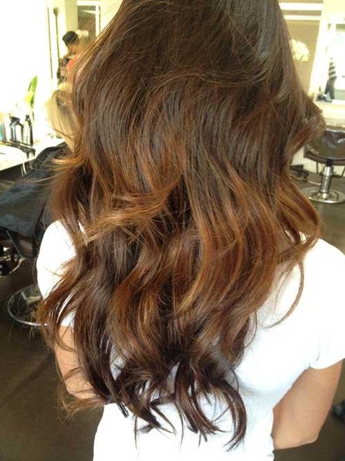 Estilos de cabello largo ondulado