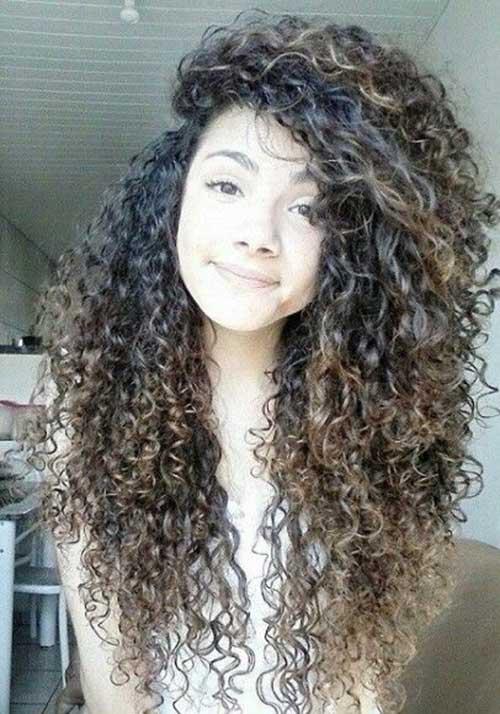 Curlry pelo largo y hermoso para niñas