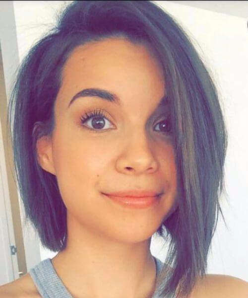 peinados cortos bob asimétrico