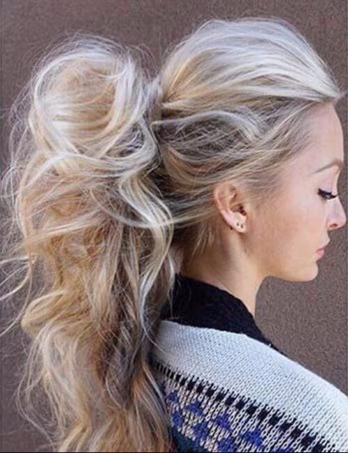 Súper largo coletas de cola de caballo para el pelo largo