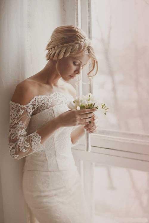 Peinados de boda elegante con trenzas