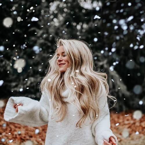 peinados rubios de invierno