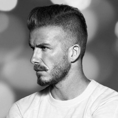 Cepillarse los peinados de David Beckham