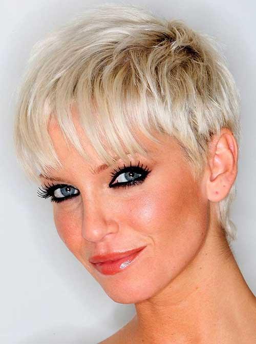 Preciosos cortes de cabello corto para Pixie en capas
