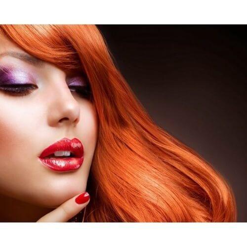 cabello rojo anaranjado