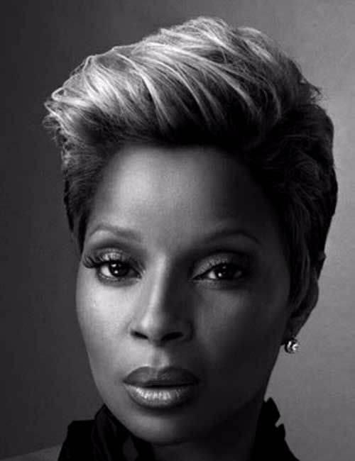 peinado corto mary j blige para mujeres negras