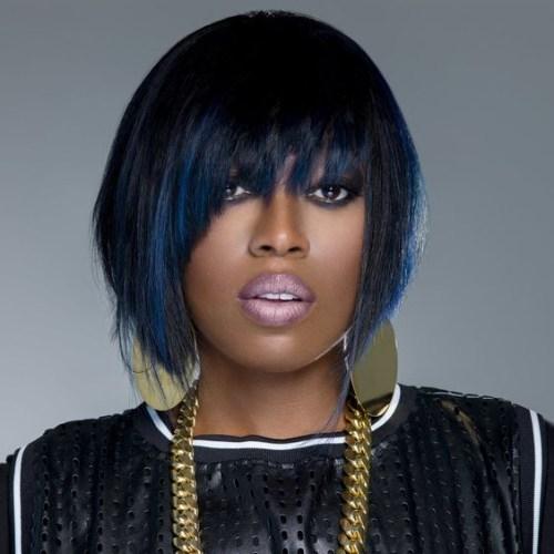 peinados asimétricos bob para mujeres negras