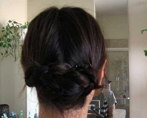 El mejor peinado updo trenzado fácil