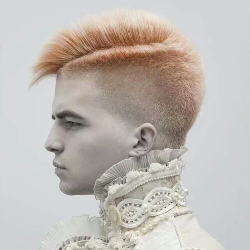 Peinados punk para chicos con pelo grueso
