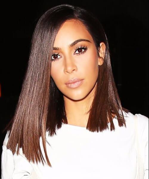 peinados kim kardashian contundentes a la altura del hombro