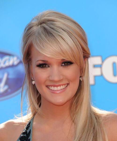 carrie underwood peinados con flequillo