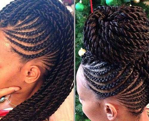 Mejor Updo con trenzas Peinados para mujeres negras