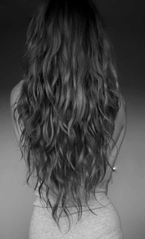 Cortezas de pelo largo ondulado-20