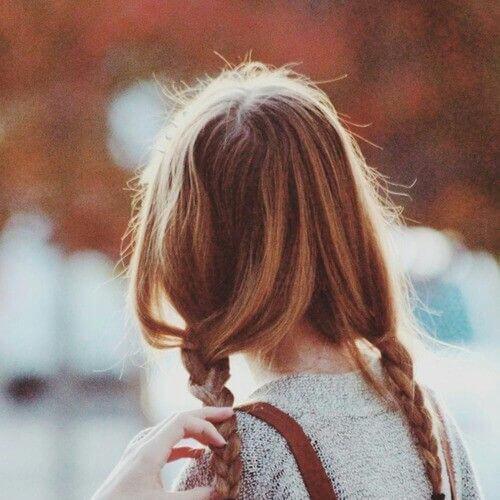 dos trenzas rubias peinados