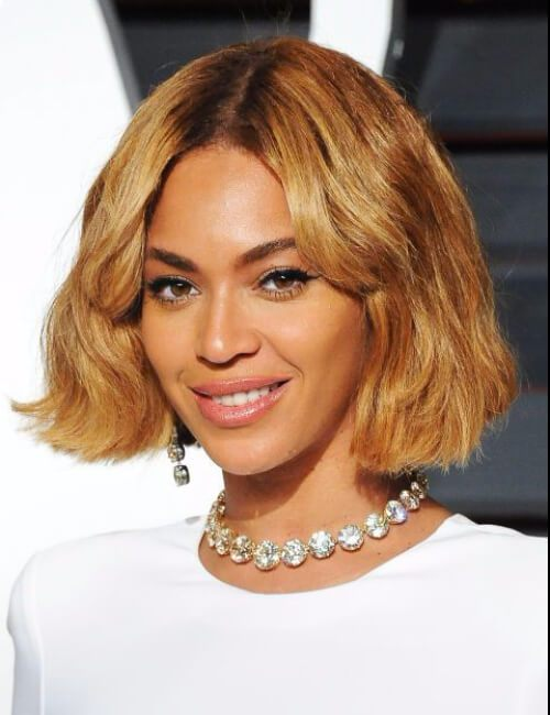 Beyonce embotado rubia bob hairtsyles cortos para mujeres negras