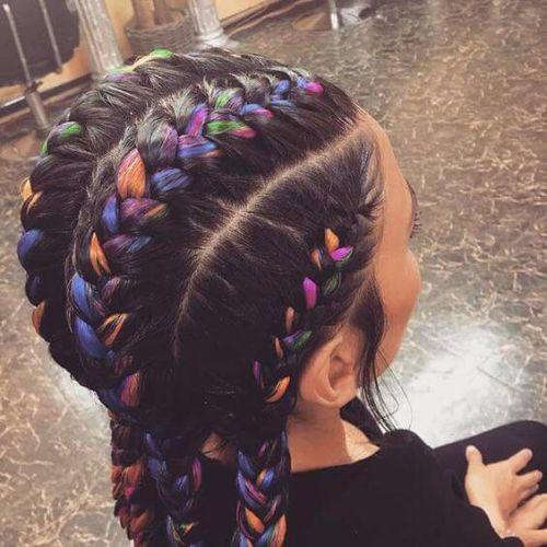 coloridas trenzas de diosa
