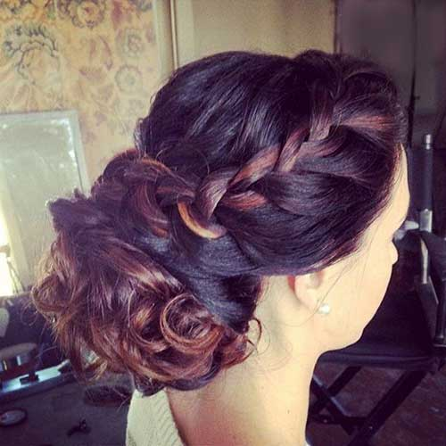 Trenzado Brown Hair Updos para peinados largos