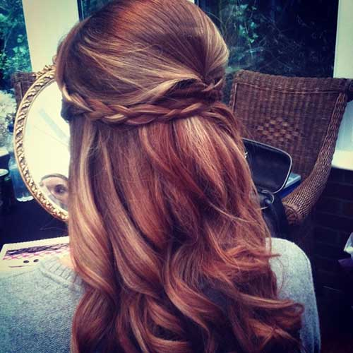 Mejor trenzado Half Up Half Down Wedding Hair Idea